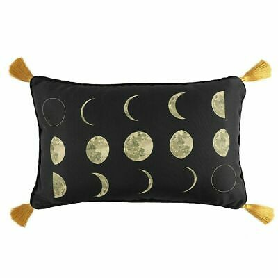 Moon Phases/lunar - Rectangular Luxury Cushion With Gold Tassels  New In Packet • 15.99£