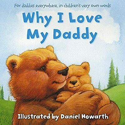 Why I Love My Daddy Large  Picture Bedtime Story Book Baby Toddler Kids Gift • 4.79£