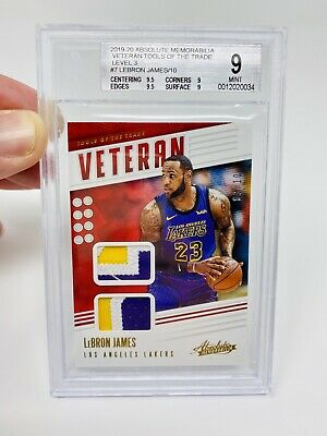 AU3140.43 • Buy LEBRON JAMES 2019 Absolute Tools Of The Trade DUAL GAME WORN Patch /10 PSA BGS 9