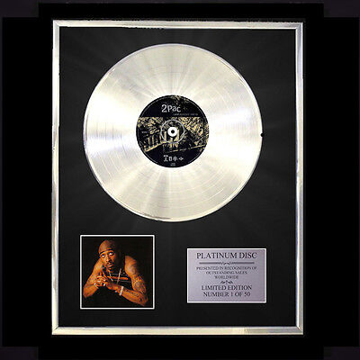 2pac Greatest Hits Cd Platinum Disc Free P+p!! • 167.97£