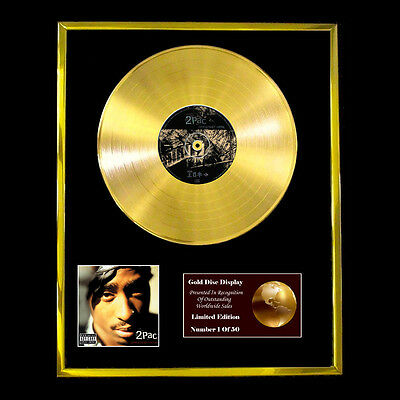 2pac Greatest Hits Cd Gold Disc Free P+p! • 160.95£