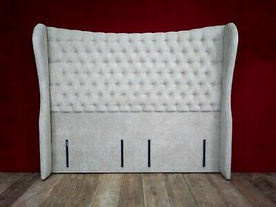 New Hypnos Elizabeth Super King Size Deep Buttoned Winged Headboard Rrp £2000+ • 599£