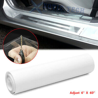 $13.99 • Buy Universal Clear Door Sill Edge Paint Protection Vinyl Cover Film Sheet 6'' X 60