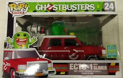 FUNKO Pop Rides Series: Ghostbusters, 24: Ecto-1 With Slimer (Summer Convention) • 64.43£