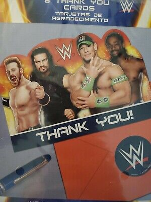 WWE 2014 Party Supplies Thank You Cards With Envelopes 8ct. • 1.53£