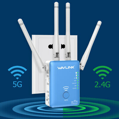 AU47.30 • Buy Wavlink 1200Mbps WIFI Repeater 2.4GHz&5GHz Router Wireless Extender Access Point