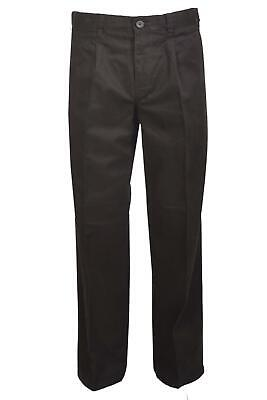Mens BHS Atlantic Bay Black Chinos Pleat Front Active Waistband Cotton Trousers • 14.95£