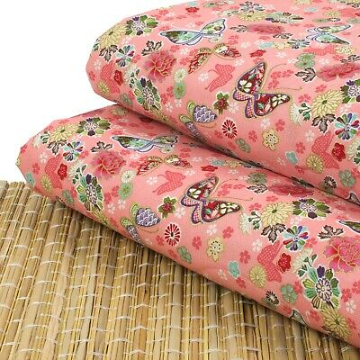 AU7.24 • Buy Butterflies And Flowers Pink 100% Cotton Fabric Fat Quarter Quilting FQ #0162
