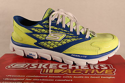 Skechers Men's Slippers Sneakers Low Shoes Neon Yellow New • 83.36£