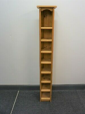 Solid Pine Wooden Cd Rack Holds 80 Discs Music - Collect Only • 20£