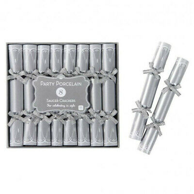 Wedding / Party / Event Miniature Silver Saucer Crackers (pack Of 10) • 2.99£