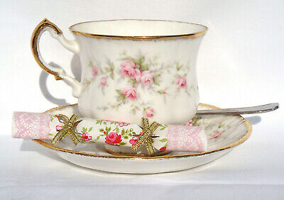 Wedding / Party Miniature Vintage Chic Floral Saucer Crackers (pack Of 8) • 3.99£
