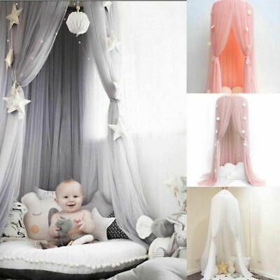 Princess Kids Baby Bed Canopy Bedcover Mosquito Net Curtain Bedding Dome Tent • 19.99£