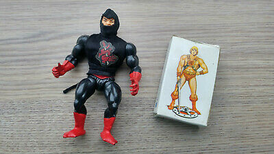 $100 • Buy Ninjor Masters Of The Universe Action Figure Mattel 1983 + Playing Cards