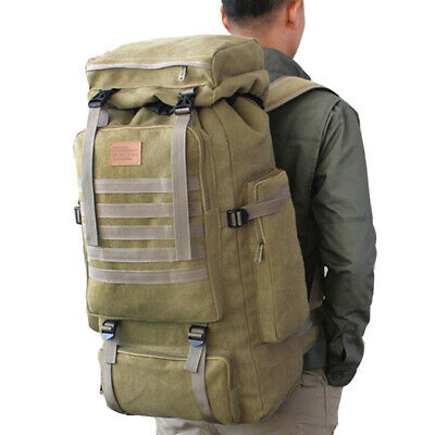 AU47.15 • Buy 80L Large Military Backpack Tactical Bag Camping Hiking Tactical Travel Rucksack