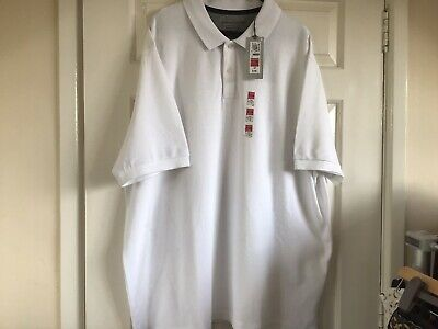 Mens Marks And Spencer White Polo Shirt Size 2XL • 4.99£
