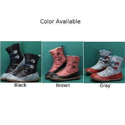 Women Winter Warm Arch-Support Fur Lined Ankle Snow Boots Slip On Comfort Shoes • 14.61£