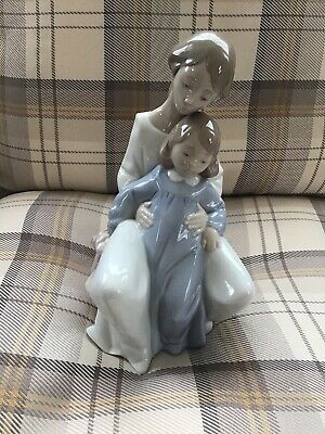 Nao Figurine Mum And Daughter With Teddy #1429 • 35£
