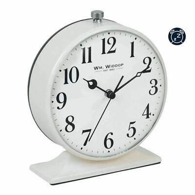 £13.50 • Buy Cream Round Retro Alarm Clock Arabic Numerals Battery Operated Bedside Analogue