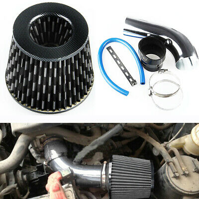 $46.73 • Buy 1 Set 3 Inch Carbon Fiber Aluminum Pipe Turbo Piping Auto Cold Air Intake Filter