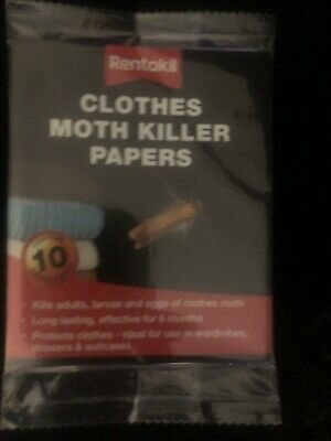 Rentokil Clothes Moth Killer Papers Kills Adults Larvae And Eggs Last 6 Months • 3.76£