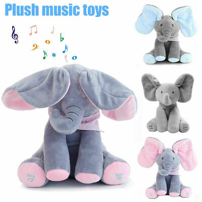 Peek-a-boo Music Elephant Baby Plush Toy Stuffed Doll Animated Singing Gift  • 15.96£