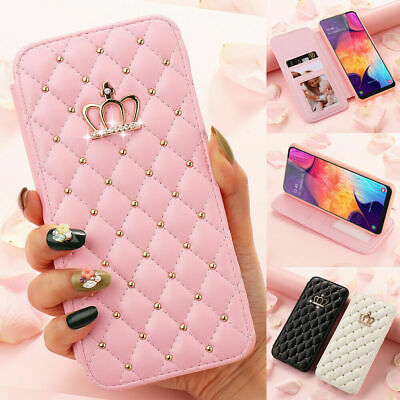 AU12.99 • Buy Luxury Wallet Flip Leather Bling Diamond Case For IPhone 12 11 Pro XR 7 8 Cover