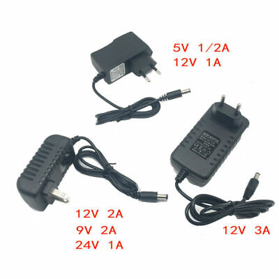 DC5V 9V 12V 24V 1A 2A 3A Adaptor DC 5 9 12 24V Volt Power Supply Charger Adapter • 2.60£