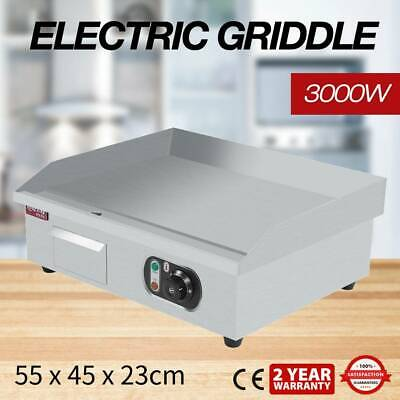 Commercial Electric Griddle Countertop Kitchen Hot Plate Grill Stainless 3000W • 68.98£