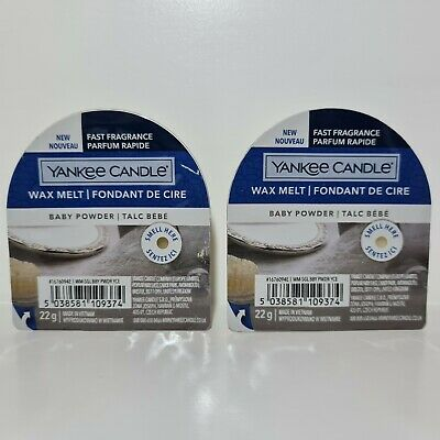 2 X Yankee Candle Wax Melts - Baby Powder | NEW DESIGN | FREE P&P • 5.50£