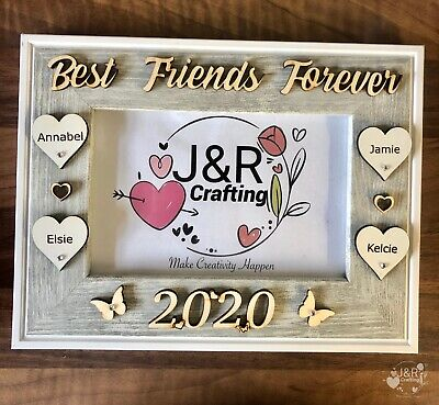 £13.99 • Buy PERSONALISED WOODEN PHOTO FRAME ,BEST FRIENDS FOREVER,Birthday Gift Home Decor,