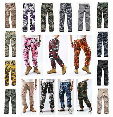 $29.69 • Buy Mens Casual Cargo Pants Trousers Military Army Trousers Multi-pockets BDU Pants