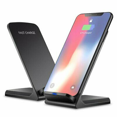 AU16.46 • Buy Qi Wireless Charger Stand Dock Fast Cordless Charging For IPhone 8 11 X XS XR