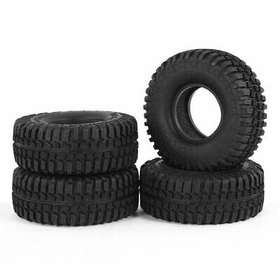 £22.99 • Buy 4PC 100mm 1.9  Rubber Tyre Tire For 1:10 RC Rock Crawler Axial SCX10 90046 90047