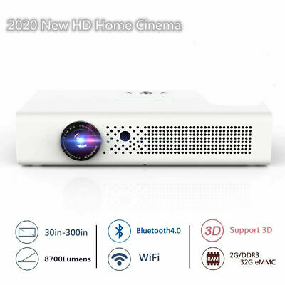 £339.88 • Buy 8700 Lumens DLP Android 4K 3D Home Cinema Projector HD 1080P Wifi HDMI USB SD UK