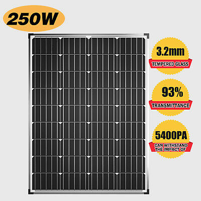 AU99.90 • Buy 12V 250W Solar Panel Kit Mono With Anderson Plug Power Camping Battery Charging