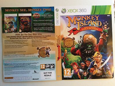£4.99 • Buy Xbox 360 Monkey Island Special Collection Insert Cover Only  Sleeve Inlay Promo