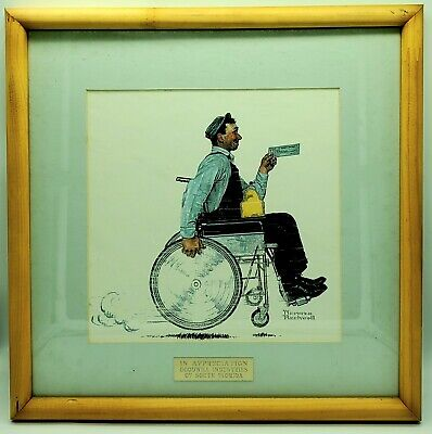 $ CDN2335.59 • Buy The Paycheck, by Norman Rockwell, 1950s. Norman Rockwell Gave Goodwill