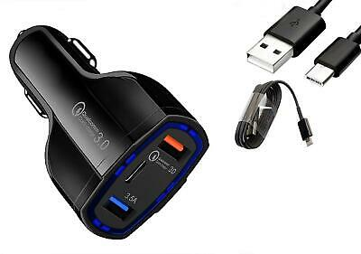 $ CDN13.56 • Buy Fast Charge Car Charger Type-C Cable For Samsung Galaxy Note 20 Note 20 Ultra