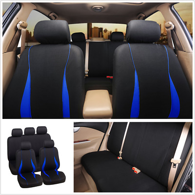 $ CDN33.96 • Buy 9PCS Front And Rear Seat Protect Cover Polyester Universal Fit For 5-Seats Car
