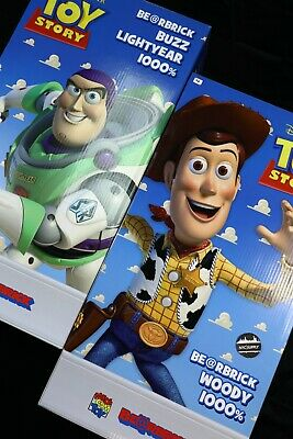 $5488.88 • Buy BearBrick Toy Story Buzz LightYear & Woody 1000% Set Medicom Toy RARE
