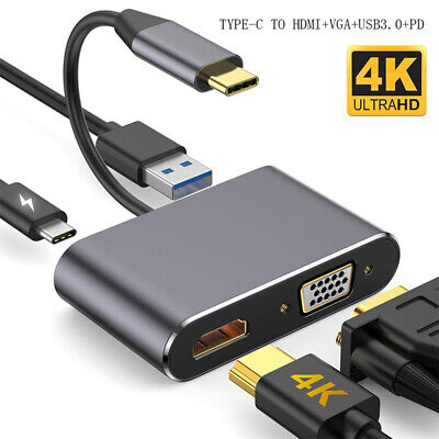 AU20.45 • Buy TypeC To 4K VGA HDMI USB 3.1/3.0 Hub Charger Adapter For Switch Samsung IPad Pro