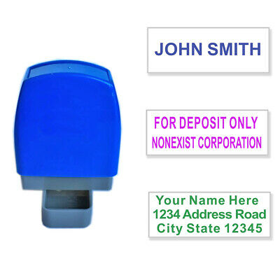 Personalized Address Stamp Custom Name Signature Self Inking Return 1 To 3 Lines • 5.99£