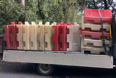 Heavy Duty Water Barrier Road Traffic Management Safety Barrier 25 Pieces • 240£