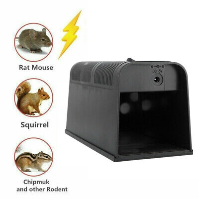 Electronic Powerful Shock Reusable Rat Mouse Trap Killer Indoor Outdoor Safe UK • 19.99£