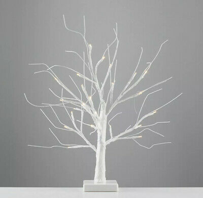 Modern LED Tree Table Lamp Battery Operated 45cm Decorative White Novelty Light • 5£