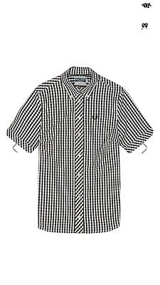 Fred Perry Reissues Check Gingham Short Sleeve Ladies Shirt Mod Skin Girl New 12 • 50£