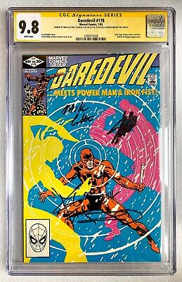 DAREDEVIL #178 CGC SS 9.8 SIGNED X4 STAN LEE/FRANK MILLER/COLTER/COX + INSCRIBED • 599.99£