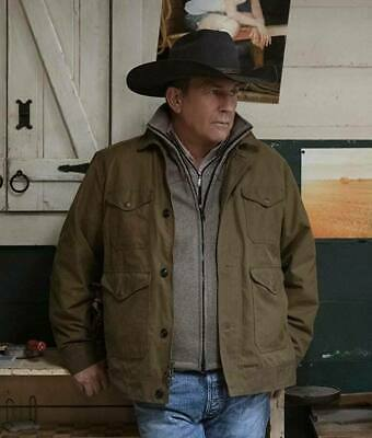 AU134.99 • Buy Yellowstone Season 2 John Dutton Brown Cotton Jacket Mens Halloween Sale
