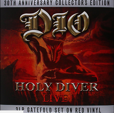 DIO - HOLY DIVER 30th ANNIVERSARY COLLECTOR'S EDITION - 3 X RED VINYL LP - NEW • 18.45£